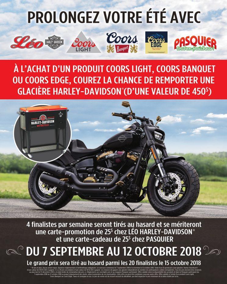 Prolongez votre été avec Pasquier, Molson Coors et Léo Harley-Davidson