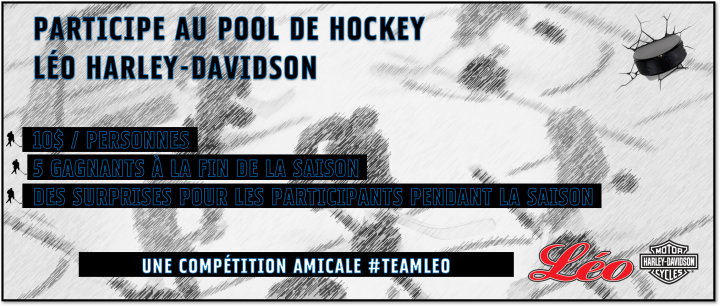 Pool de hockey Léo Harley-Davidson
