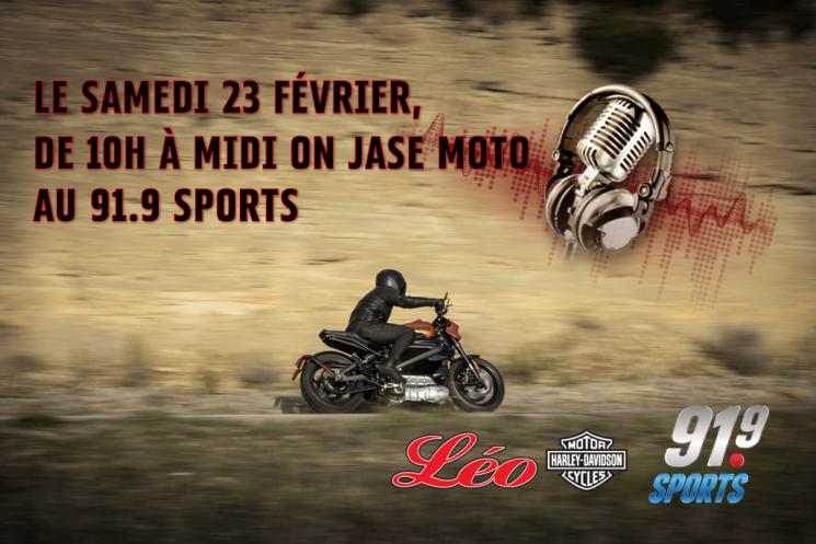 Le samedi 23 février, dès 10h00, syntonisez le 91.9 sports, on parle moto.