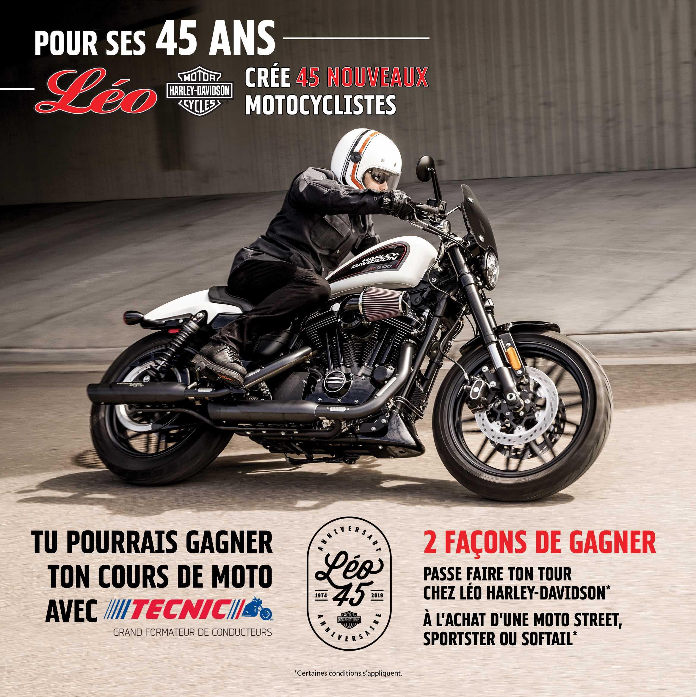 Affiche du 45e anniversaire de Léo Harley-Davidson