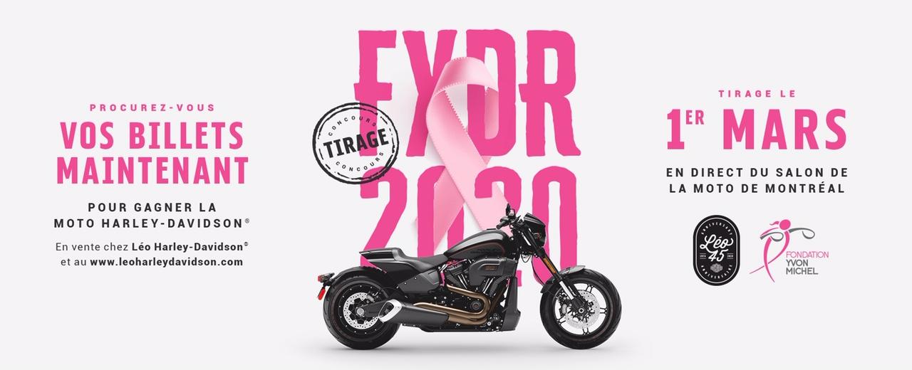 Contribuer à une bonne cause pourrait vous faire gagner une moto Harley-Davidson