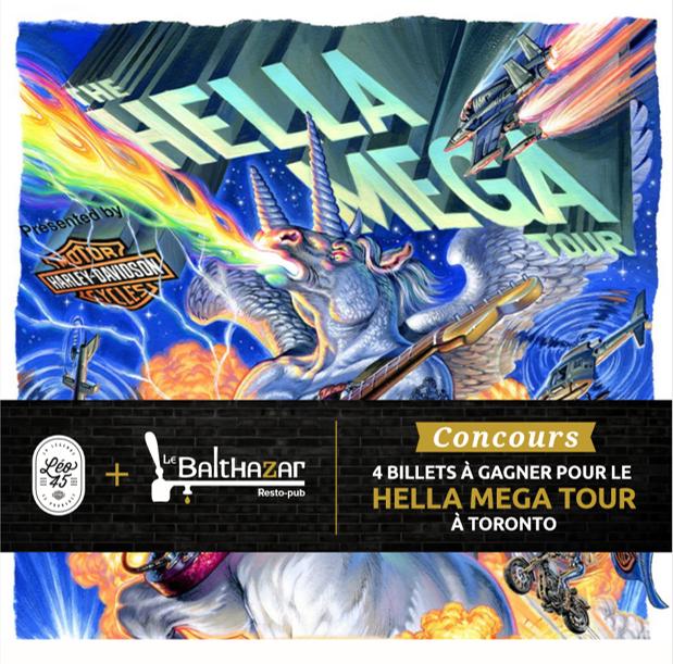 Gagne ton trip à Toronto pour assister à la tournée THE HELLA MEGA TOUR