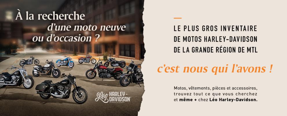 LE PLUS GROS INVENTAIRE DE MOTO HARLEY-DAVIDSON AU QUÉBEC